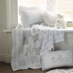 Noah's Ark Cot Bed Quilt | The White Company