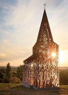 Transparent Church by Belgian architects Pieterjan Gijs and Arnout Van Vaerenbergh
