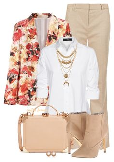 Floral Print Blazer by rosipolooyas on Polyvore featuring moda, Steffen Schraut, M&S Collection, Michael Antonio, Aspinal of London, Amour de Pearl and Charlotte Russe