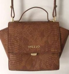 Bolsa Arezzo Caramelo Little Bag, Hang Bag, Leather Products, Chic, Shoulder Bags, Fashion, Beauty Queens, Tan Leather, Hand Bags
