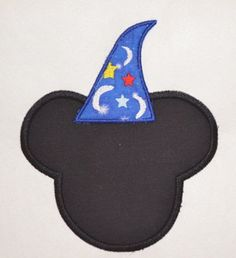 Mickey Disney Wizzard  Machine Embroidery by Sassiebabies on Etsy, $2.50