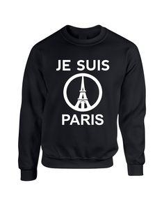 JE SUIS PARIS Eiffel tower women sweatshirts
