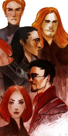 A different look at the #Avengers and Loki!