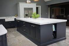 1909 Painted In - Frame kitchen in Charcoal and Partridge Grey