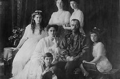 Tsar Nicholas and Alexandra Pose with third Children Before the Revolution