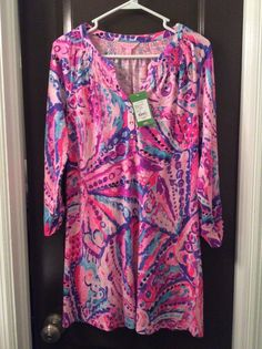 NWT Lilly Pulitzer Sleeved Essie Dress size xsmall