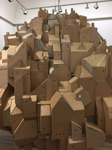 Cardboard City, Cardboard Sculpture, Cardboard Paper, Abstract Sculpture, Sculpture Art, Architectural Sculpture, Immersive Experience, Gothic Architecture, Stop Motion