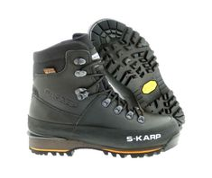 S-KARP Omu CXT, Black - Outdoor Shoes, great for Backpacking and Mountaineering, Vibram sole and eVent waterproof membrane Mountaineering, Trekking, Backpacking, Hiking Boots, Urban, Casual, Outdoor, Black, Fashion