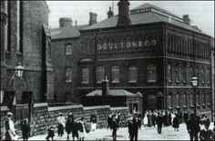 Workers outside the Doulton factory at the turn of the century (1900's). Been here sadly its been demolished  Doulton moved produce to China  years ago