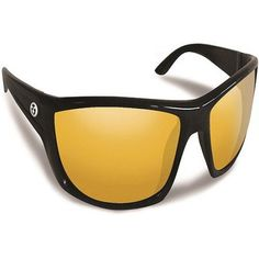 Flying Fisherman Buchanan Black with Yellow Amber Sunglasses, Men's