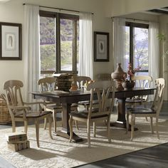 Custom Dining - European Classic (Set by Canadel - Becker Furniture World - Canadel Custom Dining - European Classic Dealer Minnesota Sunroom Dining, Country Dining Rooms, Dining Room Sets, Round Dining Table, Dining Room Design, Dining Room Chairs, Patio Design, Dining Room Furniture, Small Dining