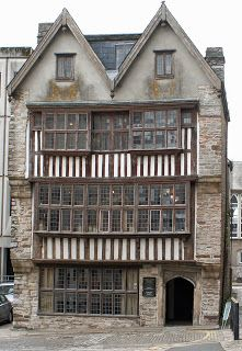 The Merchant's House in Plymouth. It is probably early 17th century, but very much in the same style as other late Tudor buildings.