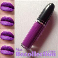 Mac Recollection Lippie Purple Lipstick, Mac Lipsticks, Lip Products, Make Up, Cosmetics, Eyes, Amazing, Hot, Beauty