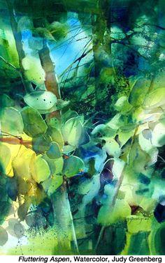 """""""Fluttering Aspen"""" by Judy Greenberg."""