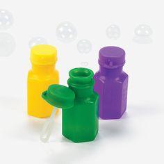 Mardi Gras Hexagon-Shaped Bubble Bottles - OrientalTrading.com