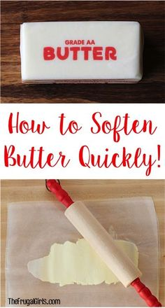 How to Soften Butter Quickly! ~ tip at TheFrugalGirls.com ~ Craving cookies on a whim and need some softened butter fast? This easy trick works like a charm!