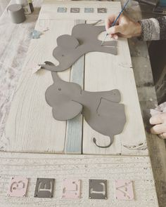 Making art with reclaimed wood and metal Finishing touches on the Nursery Room, Nursery Wall Art, Elephant Themed Nursery, Wood And Metal, Metal Art, Popular Art, Personalised Box, Diy Wall Art, Art Decor