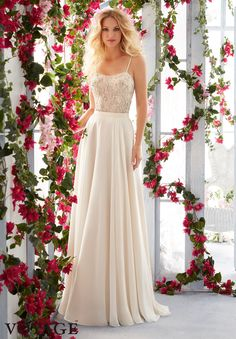 Mori Lee Wedding Dress 6821 - Add Some Color: 19 Stunning Colored Wedding Dresses - EverAfterGuide
