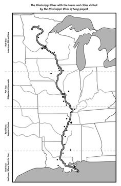 Mississippi River Blank Map from PBS River of Song Project 5th Grade Geography, Us Geography, Geography Activities, Geography Lessons, Teaching Geography, Teaching Kids, Teaching Literature, Third Grade Math, History Projects