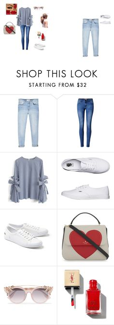 """""""a little bit french."""" by julka191 on Polyvore featuring moda, MANGO, WithChic, Chicwish, Vans, Lacoste, Kate Spade i Jimmy Choo"""