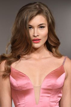 Model Grace Elizabeth walks the runway at the Sherri Hill Spring 2016 fashion show during New York Fashion Week at The Plaza Hotel on September 13, 2015 in New York City.