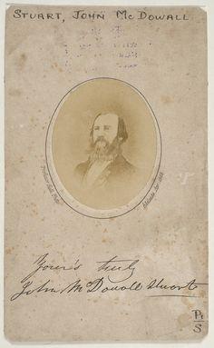 John McDouall Stuart, explorer, 1863 / photographer Professor Hall, Adelaide