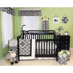"Trend Lab Versailles 6-Piece Crib Bedding Set - Black/White - Trend Lab - Babies ""R"" Us"