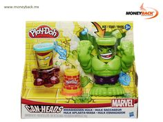 Recrea las batallas de los superhéroes Marvel con la cabeza de lata de Hulk el demoledor. Hulk puede aplastar y golpear con su puño con sólo apretar un botón en su base y viene acompañado de su amigo Iron Man. Adquiérelo en tiendas Juguetron y guarda tu recibo para obtener dinero por tu compra con Moneyback! #Hulk
