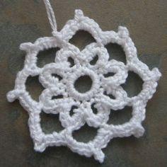 Snowflake, crochet Christmas tree decoration