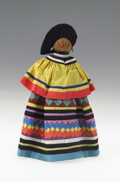National Museum of the American Indian : Seminole Female doll, circa 1960