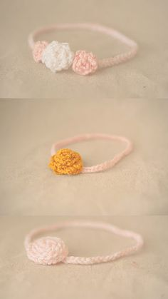 Finger Knitted headbands! Great way to show a  little girl how much potential she has!