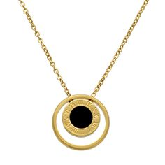 Hot Sale Roman Numeral Pendant Necklace Natural Shell With Acrylic two-sided Pendant Chains Necklace For Women Fine Jewelry