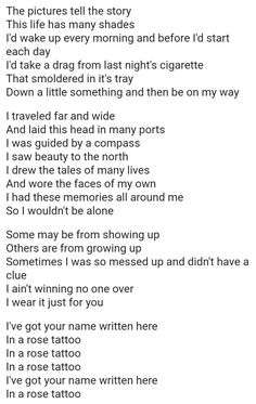 Dropkick Murphys- Rose Tattoo Lyrics