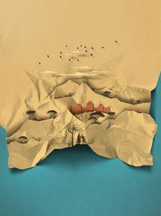Eiko Ojala Eiko Ojala, Paper Art, Paper Crafts, 3d Poster, Id Photo, Origami Paper, Children's Book Illustration, Graphic Design Inspiration, Paper Design