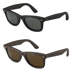 c01651e277 Ray Ban up-to-date Wayfarers which feature a leather wrapped frame  available in