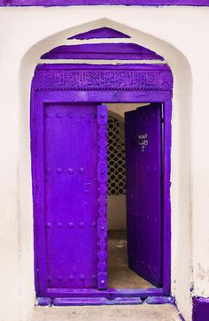 """The colors of the world await on the web.  Try """"color surfing"""" and you may find treasures like this violet door."""