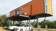 Elevated container home //