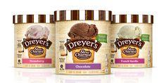 Dreyer's Ice Cream Redesign — The Dieline - Branding & Packaging Design