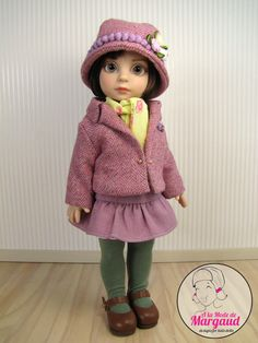 "OOAK Outfit ""Please Mr Winter "" for 10"" Tonner Patsy and Ann Estelle by Almdm 