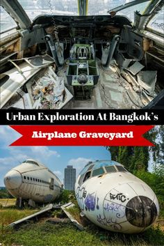 Bangkok is known for a lot of exquisite sights – The Grand Palace, Wat Arun, Wat Pho, Vimanmek Mansion and countless others. But one of the city's most unique and fascinating attractions remains off many people's radar – Bangkok's airplane graveyard. Find out how you can go visit this place. #travel #thailand #bangkok #adventure #offthebeatentrack