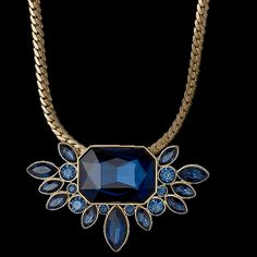Pilgrim Pleased Necklace Gold Plated Blue 38+8 cm 23153-2201
