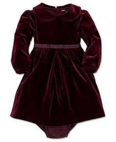 Ralph Lauren Baby Girls Dress, Baby Girls Velvet Dress - Kids Baby Girl (0-24 months) - Macy's