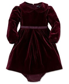 Ralph Lauren Baby Girls Dress, Baby Girls Velvet Dress - Kids Baby Girl (0-24 months) - Macy's