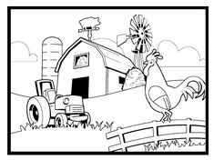 Farm Animals Coloring Pages Inspirational Farm Coloring Pages for Preschool Coloring Home Tractor Coloring Pages, Farm Animal Coloring Pages, Spring Coloring Pages, Dog Coloring Page, Online Coloring Pages, Christmas Coloring Pages, Coloring Pages To Print, Coloring Book Pages, Printable Coloring Pages