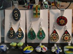 Mini Mosaic & Fused Glass Jewelry by Gila Mosaics