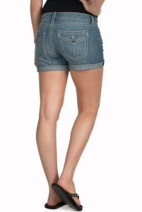 Rock 47 by Wrangler Women's Sweet Escape Embroidered Flap Open Pocket Denim Shorts | Cavender's