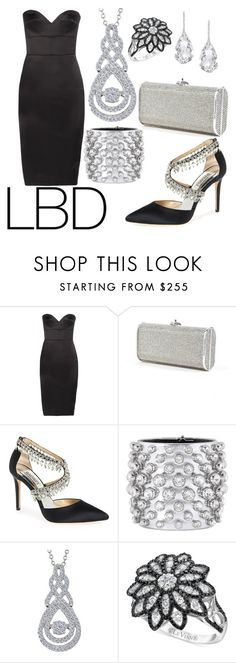 """Embellished LBD!"" by mary63348-1 ❤ liked on Polyvore featuring Victoria Beckham, Judith Leiber, Badgley Mischka, Tom Ford, LE VIAN and Plukka"
