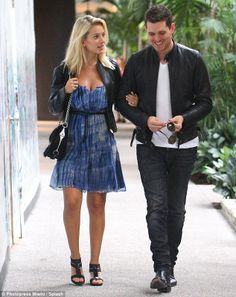 Michael Buble Wife Pregnant | Loved-up: The couple seemed to be deep in conversation as they enjoyed ...