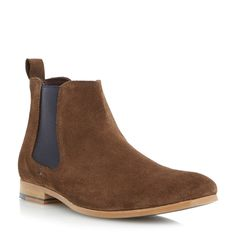 Linea Suede Slip On Chelsea Boots, Brown