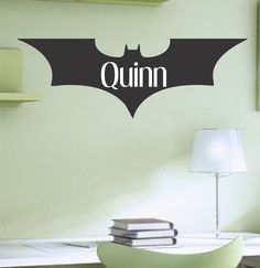 Boy's+Superhero+Batman+Symbol+with+Name+Vinyl+by+ACDecalDesigns,+$13.00